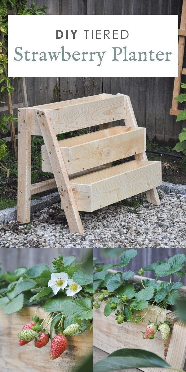 DIY Tiered Strawberry Planter | Vertical Planter Box for Your Garden - Hydrangea Treehouse