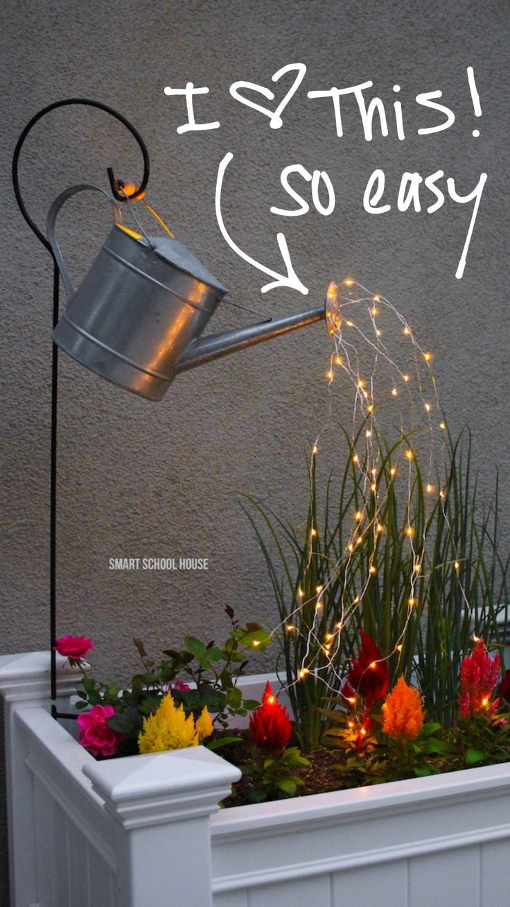 DIY Watering Can with Lights