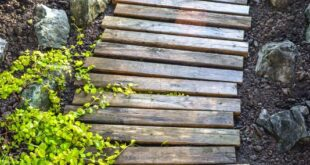 Make this easy and beautiful pallet wood garden walkway! For free!