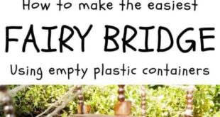 Recycle a Plastic Cup To Make a Fairy Bridge