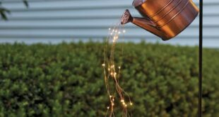 Star Shower Watering Can Decor with Lights